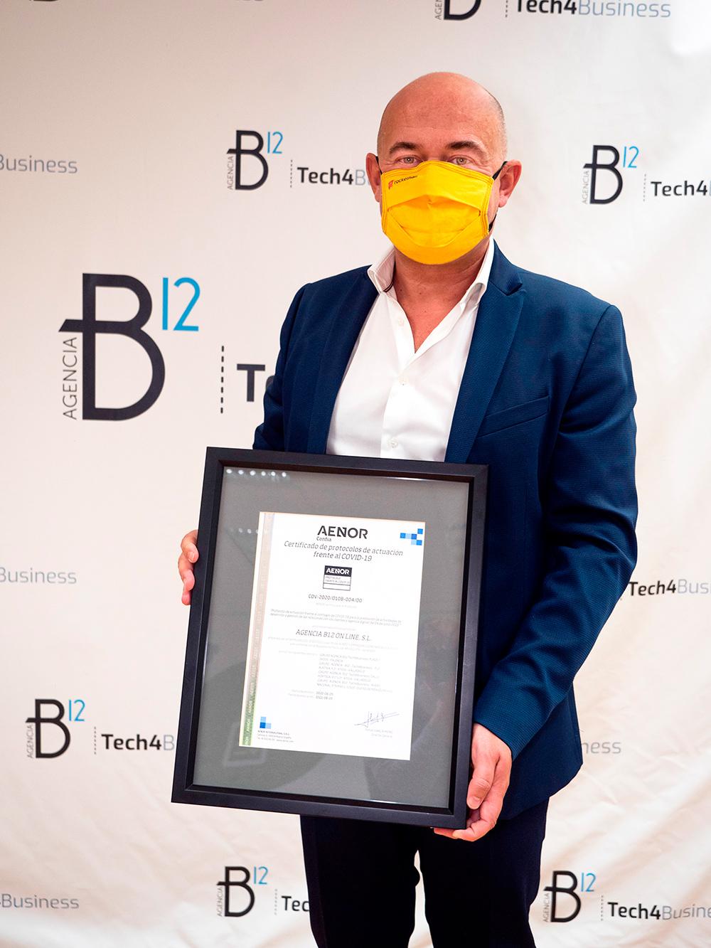 CEO Agencia B12 certificado COVID